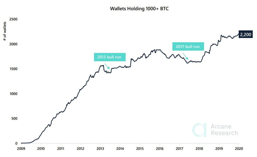 Bitcoin whales at all-time high indicate extremly bullish sentiment