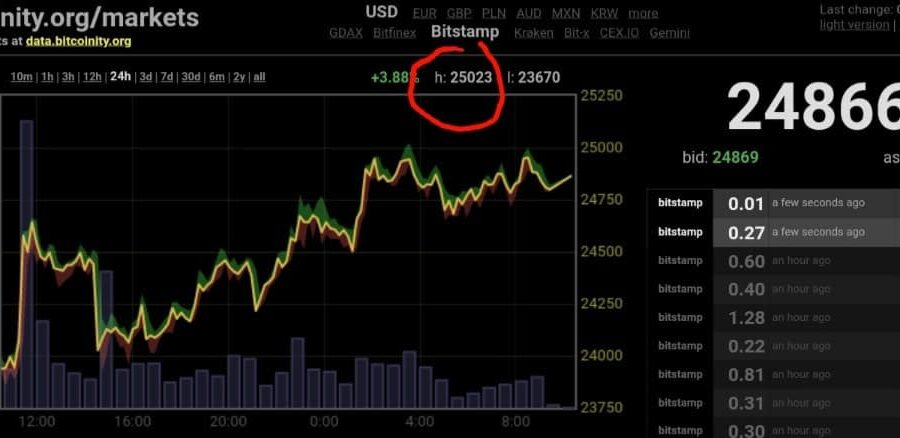 Bitcoin ATH on Christmas Caused by Retail Investors: Adam Back