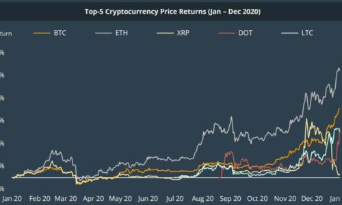 Top 30 Cryptocurrencies Gained 300% on Average in 2020: Report