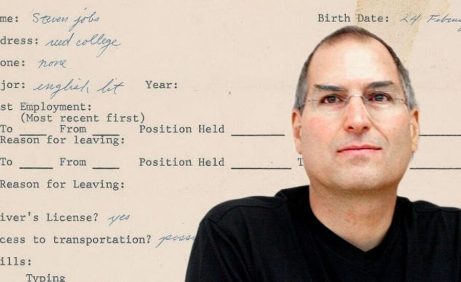 Steve Job's Physical Job Application and Mirror Copy in NFT Form to Faceoff on the Auction Block